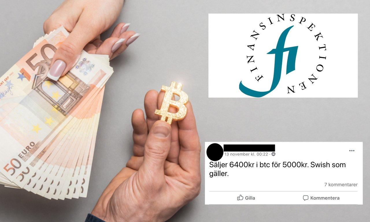 Säljer du kryptovaluta på Facebook? Då kan du behöva tillstånd från Finansinspektionen